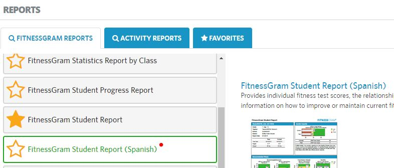 find spanish report