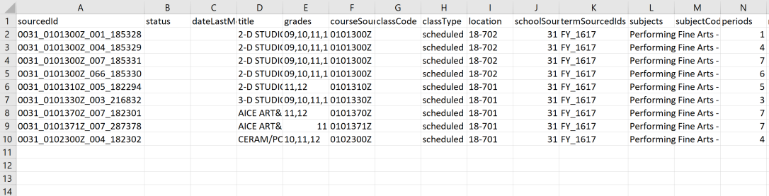 classes csv example