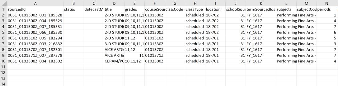 classes csv example