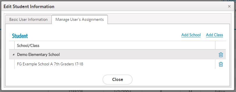 view assignments tab