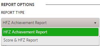 PYFA Report Options Filter 2018
